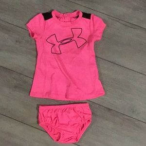 Under Armour pink dress w/ diaper cover